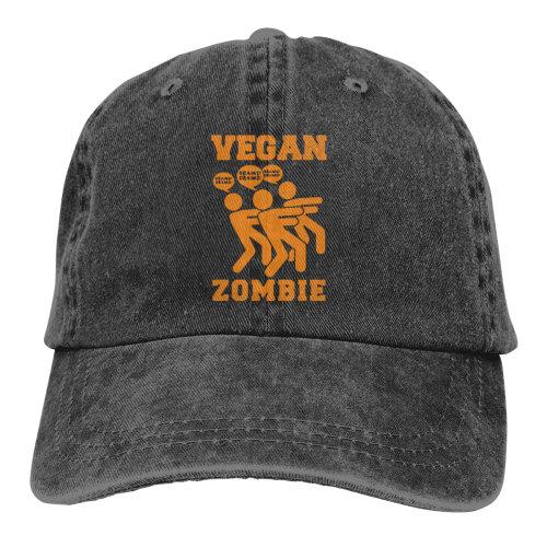 VEGAN ZOMBIE Orange Denim Baseball Caps