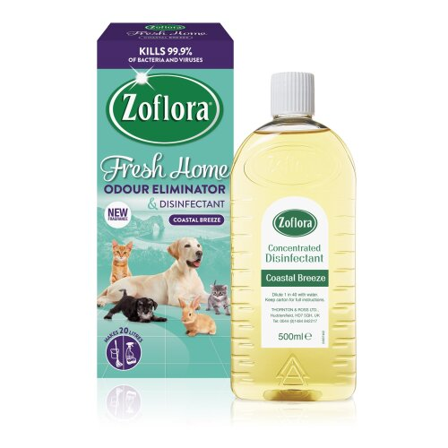 Zoflora Fresh Concentrated Odour Remover & Disinfectant 500ml - Coastal Breeze