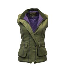 Walker & Hawkes - Ladies Derby Tweed Shooting Waistcoat Country Gilet - Purple Stripe 8-24