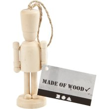 Wooden Hanging Decoration Soldier Traditional Decorate Yourself Real Wood