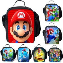Super Mario Insulated Lunch Bag Picnic Lunchbox Outdoor