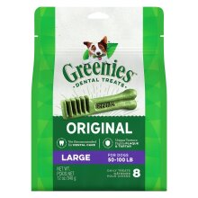 Greenies Original Large Size 8 count 12 oz | Dental Chew Treats for Dogs