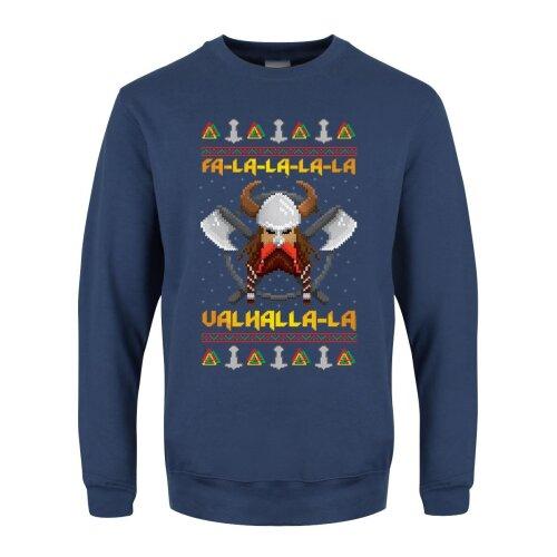 Grindstore Mens Viking Valhalla Christmas Jumper