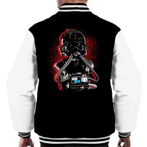 Original Stormtrooper Imperial TIE Pilot Red Burst Men's Varsity Jacket