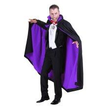 Deluxe Black / Purple Cloak - Gothic/Dracula