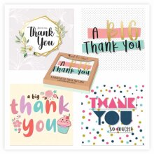 Thank You Cards Pack of 4 Handmade Greeting Card For Kids