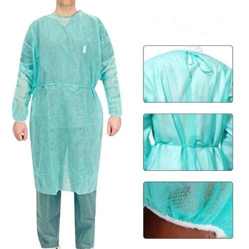 Unisex Disposable Protective Isolation Clothing Anti-Spitting Waterproof Stain Nursing Gown Suit