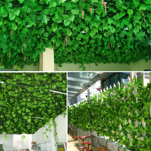 2.4M Artificial Ivy green Leaf Garland Plants Vine Home Decor