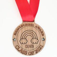 Personalised Homeschool Award Lockdown Medal