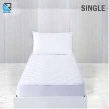 Quilted Waterproof Mattress Protector Topper Fully Fitted Cover Single