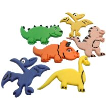 6 Mixed Novelty Edible Dinosaurs Birthday Cake Toppers