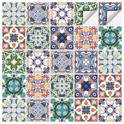 Tile Stickers x30 Mediterranean Portuguese Moroccan Style