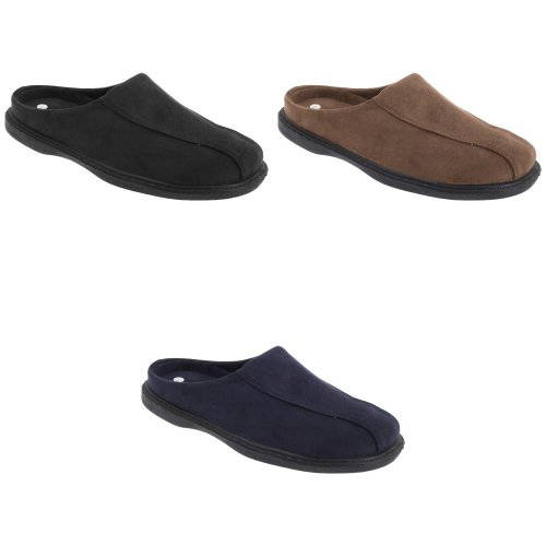 Zedzzz Mens Jarrow Synthetic Suede Mule Slippers
