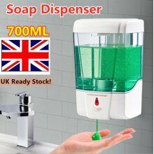 UK Stock! Wall Mounted Touchless 700ml Infrared Sensor Automatic Soap Dispenser