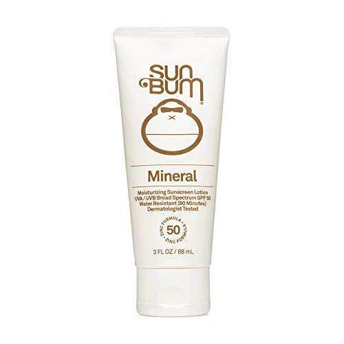 Sun Bum Mineral SPF 50 Sunscreen Lotion | Vegan and Reef Friendly (Octinoxate & Oxybenzone Free) Broad Spectrum Natural Sunscreen with UVA/UVB Protect