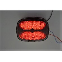 LED Laydown Tail Stop Light For Motorcycle Motorbike Smoked Lens 12v