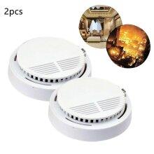 2x Fire Alarm Extended Battery Life Smoke Detector Sensor by Cri