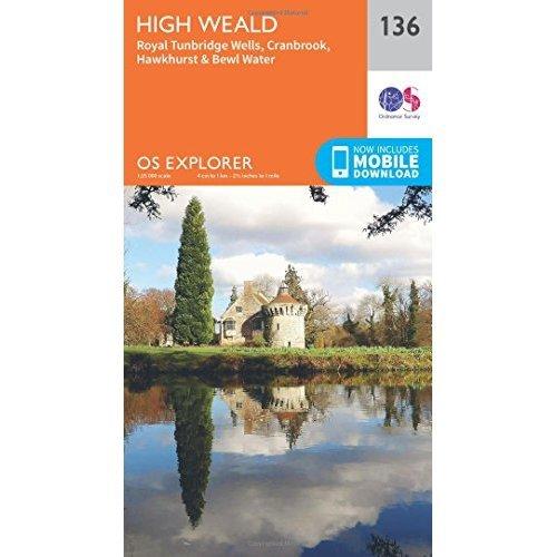 OS Explorer Map (136) High Weald, Royal Tunbridge Wells