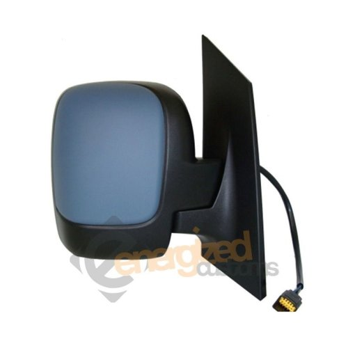 Citroen Dispatch 2007- Electric Wing Mirror Twin Glass Primed Cover Drivers Side
