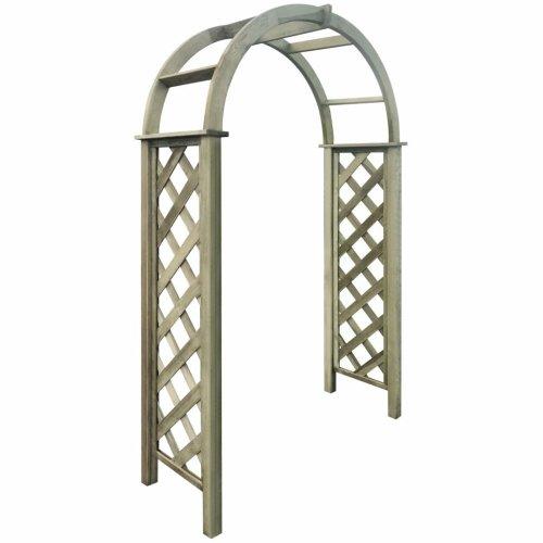 vidaXL Green Impregnated Pinewood Trellis Arch | Wooden Arbour