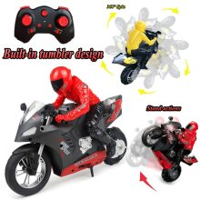 2.4g Remote Control Motorcycle Radio Electronic Dift Racing Cars 1:16 Scale With Self-balancing Single-wheel Stunt Functions