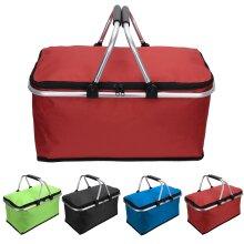 Folding Lunch Picnic Camping Cooler Hamper Bag