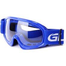 GLX YH15 Anti-Fog Impact-Resistant Kids Youth ATV Off-Road Dirt Bike Motocross Goggles for Boys & Girls (Blue)
