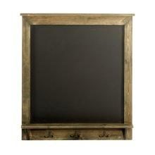 Vintage Chalkboard with Hooks 64 x 8 x 71 cm Wooden Notice Blackboard