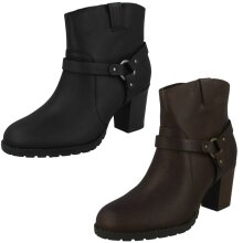 Ladies Clarks Zip Up Ankle Boots Verona Trish - D Fit