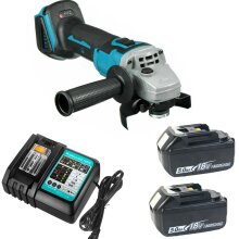 Cordless Angle Grinder 125mm For Makita Brushless+2 Batteries+Charger