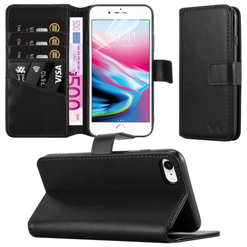 For iPhone 8/7 Combines 3 Card Leather Wallet Case