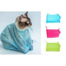 Mesh Cat Grooming Bath Bags Washing Bags For Pet Bathing Nail Trimming