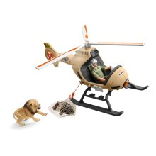 Schleich Wild Life Animal Rescue Helicopter With Toy Figures & Accessories 42476
