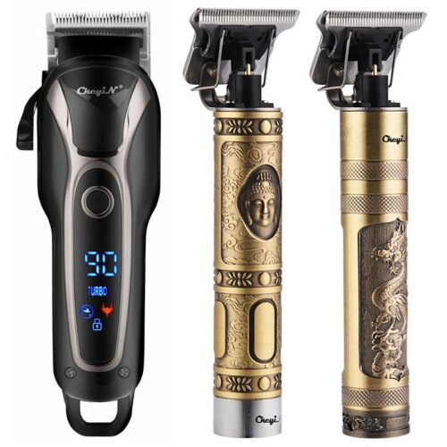 Hair Clipper Men, Electric Trimmer Rechargeable, Cutter Machine, Shaving Styling Tool