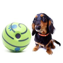 15CM Wobble Wag Giggle Ball Dog Play Training Pet Toy With Funny Sound