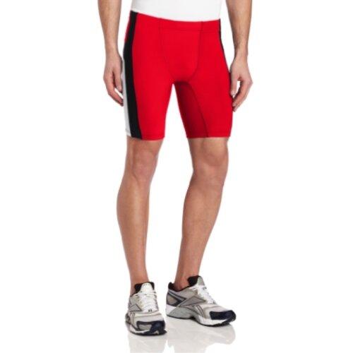 ASICS Mens Anchor Short, Red/White, Large