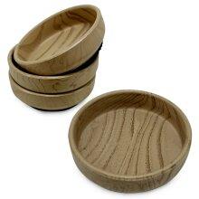 Rubber Base Castor Cups x 4   Wooden Furniture Castor Cups