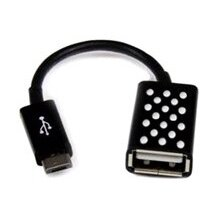 Adapter Micro-USB/USBA-F On The Go in Black