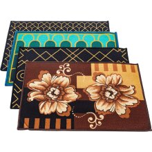 Non-Slip Doormat Sets with Different Pattern Pack of 4