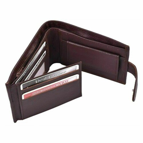MEN WALLET GENUINE SOFT QUALITY LEATHER Brown Colour