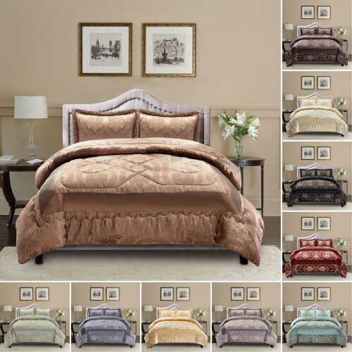 3 Pcs Jacquard Quilted Bedspread Set + Pillowcases
