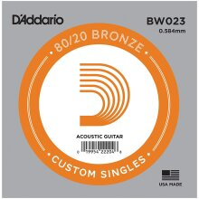 D'Addario BW023 Bronze Wound Single String Acoustic Guitar .023