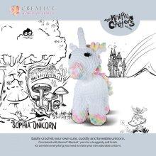 Knitty Critters Crochet Kit - Sophia Unicorn