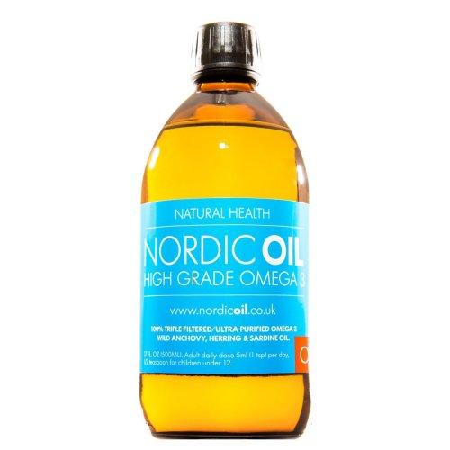 Nordic Oil High Strength 500ml Omega 3 Fish Oil. Lemon Flavoured