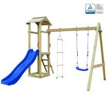 vidaXL Playhouse Set with Slide Ladders Swing 242x237x218cm Wood Activity