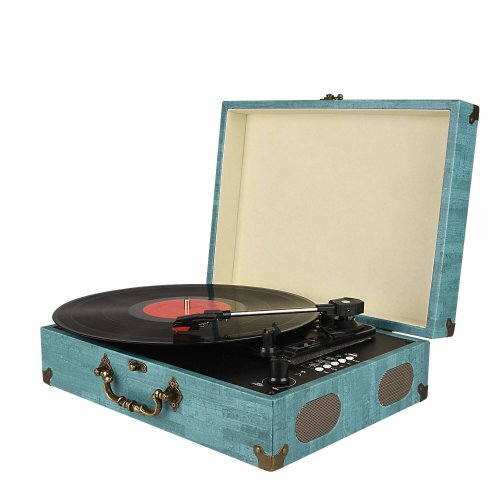 mersoco Bluetooth Record Player   3-Speed Turntable