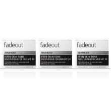 Fade Out Advanced Moisturiser for Men with SPF 25  3x50ml-Brighten, Smooth & Improve Uneven Skin Tone, Whilst Improving Skin Hydration Levels