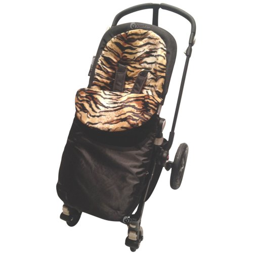 Cosy Toes Compatible with Silver Cross Zebra Animal Print Padded Footmuff