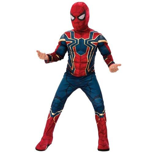 Kids Official Deluxe Iron Spider Man Costume | Spiderman Avengers Endgame Superhero