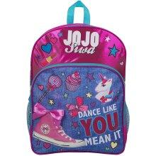 JoJo Siwa Bow Backpack Ruck Sack Sholder Bag Denim Large Poket Print Back Pack Unicorn Bows and Glitter Details Perfect School , Holiday or Dance Bag